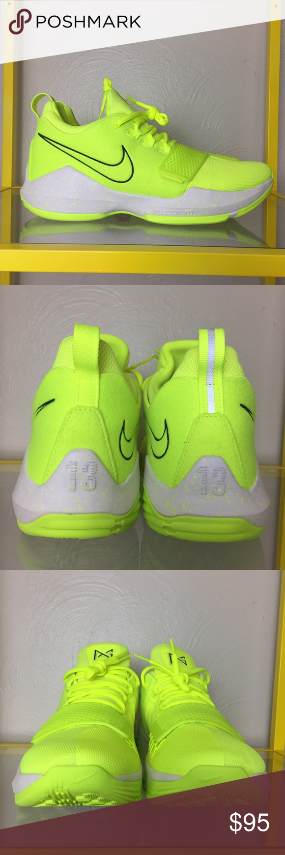 3d2479414d3 Nike PG 1 Tennis Ball Shoes Men s 11 NWB PG1 Volt Nike PG 1 Paul George