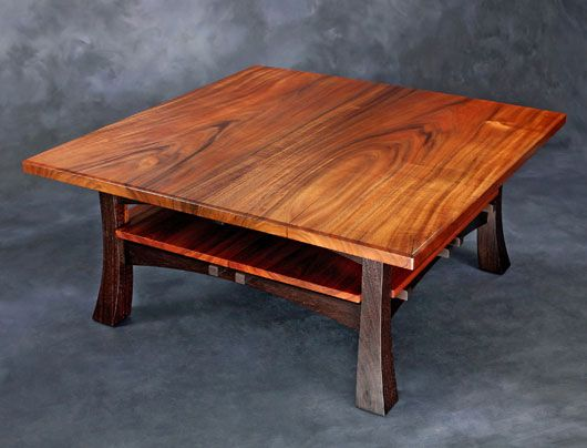 Hawaiian Koa Coffee Table With Wenge Base