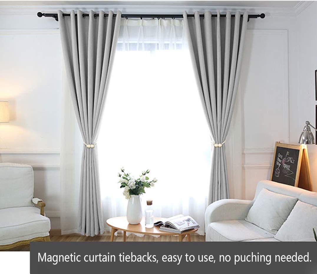 Hilelife Magnetic Curtain Tiebacks Clips Window Tie Backs