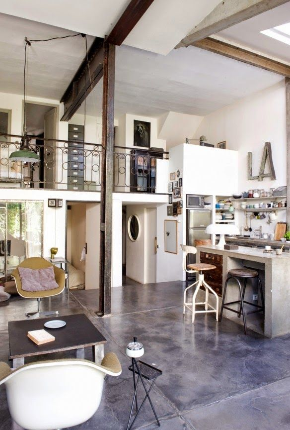 Paris loft owned by artists Virginie Denny and Alfonso Valles - via Automatism