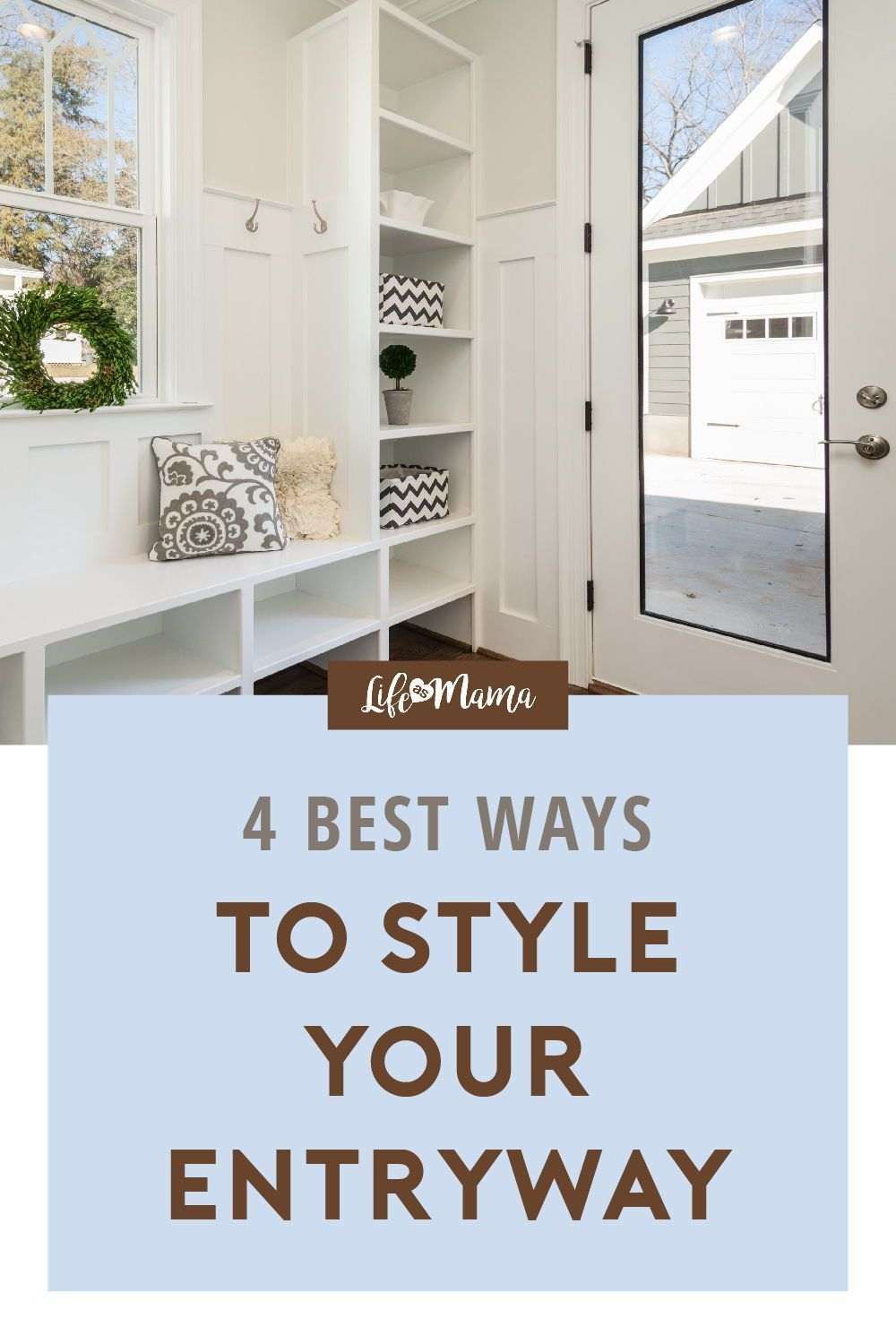 Easy Home Decor The entryway is your first impression of your home. While you have extra time at home why not work on making your entryway beautiful? We share 4 incredibly simple and easy DIY entryway ideas to enhance your home decor. You and your neighbors walking by will appreciate the beautiful display. | #lifeasmama #homedecor #entrywayideas #DIY #decorideas #housegoals.Easy Home Decor  The entryway is your first impression of your home. While you have extra time at home why not work on maki