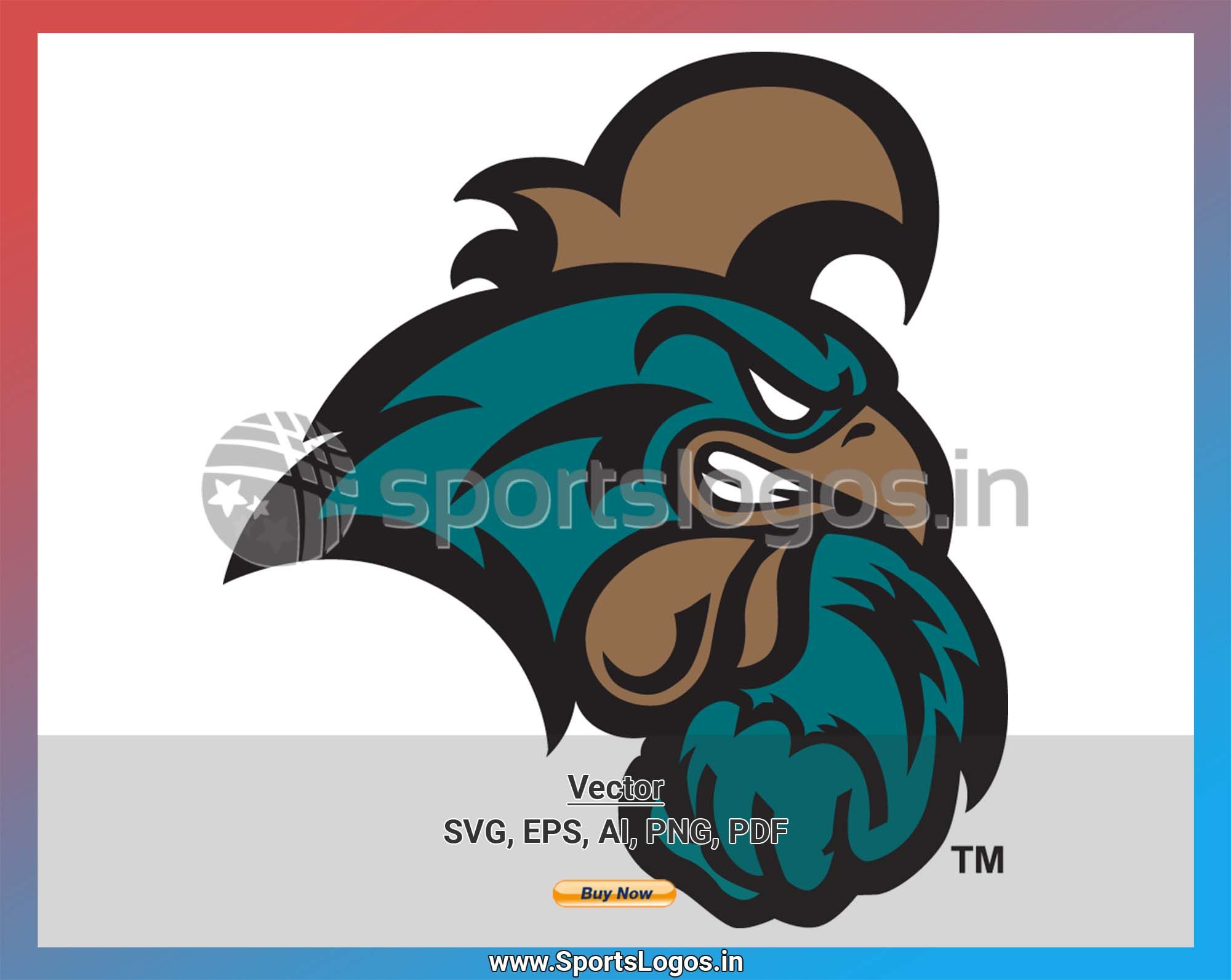 Coastal Carolina Chanticleers College Sports Vector Svg Logo In 5 Formats Spln000952 Sports Logos Embroidery Vector For Nfl Nba Nhl Mlb Milb And In 2020 Embroidery Logo Sports Logo Vector Svg