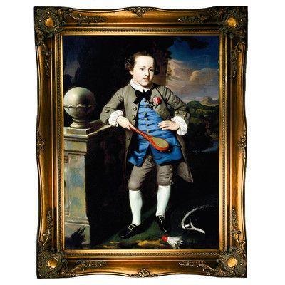 Historic Art Gallery 'Portrait of a Boy 1758' by John Singleton Copley Framed Painting Print
