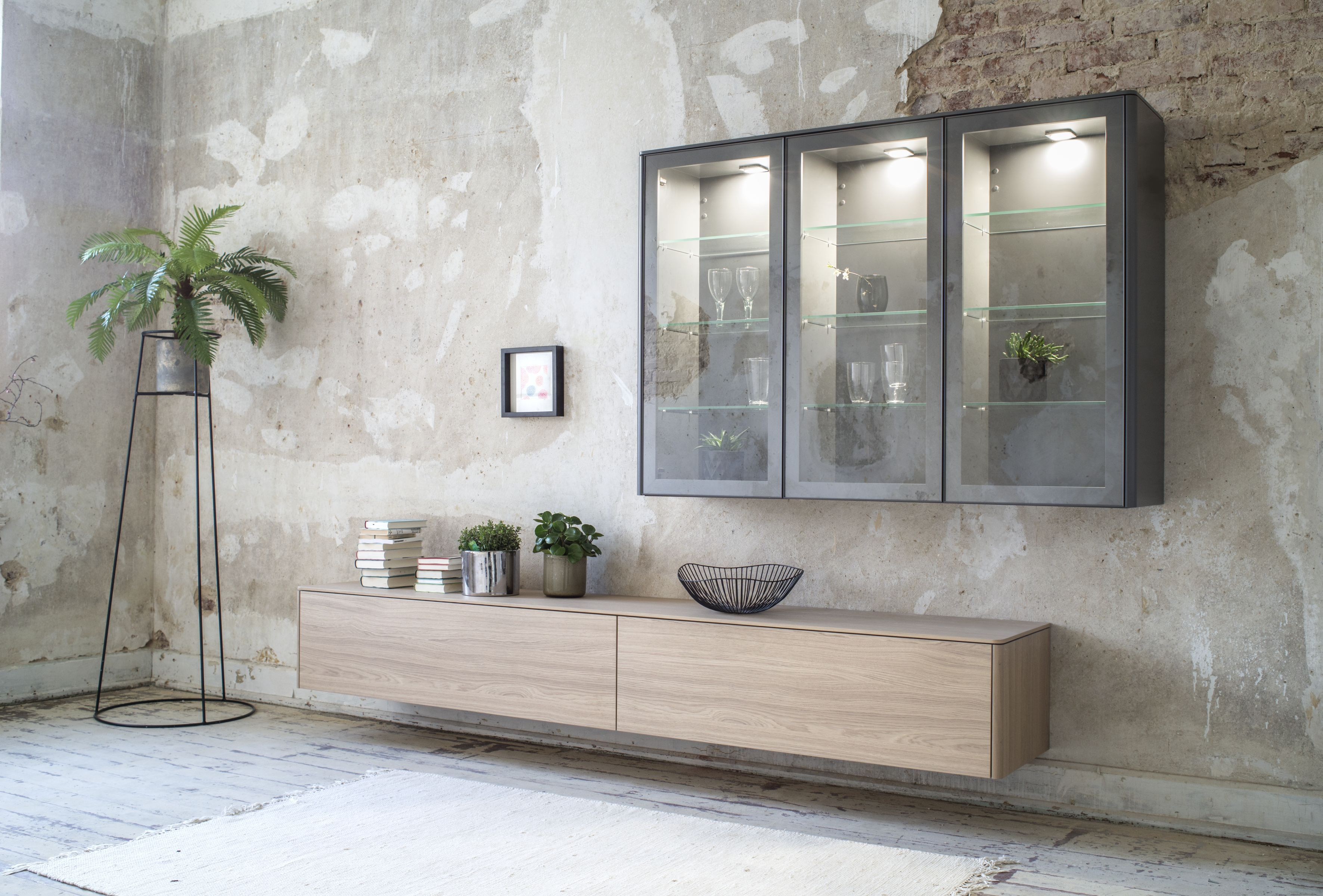 GOYA Sideboard | #Sideboard aus Glas, Lack und edlem Echtholzfurnier ...