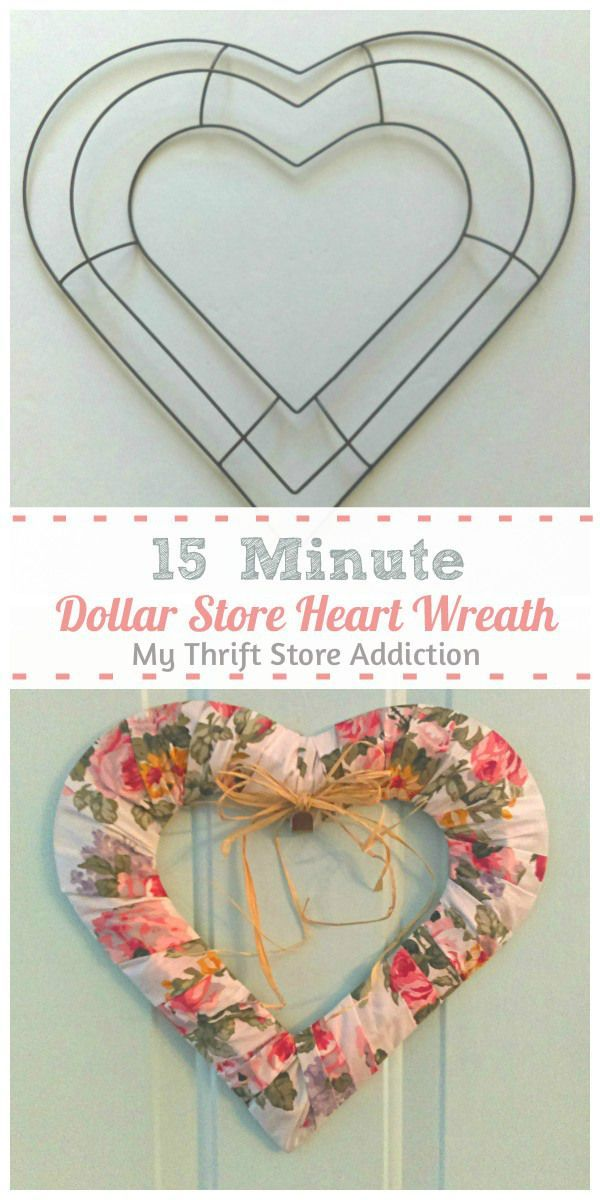 Photo of 15 Minute Heart Wreath ~ Create Your Favorite Style!