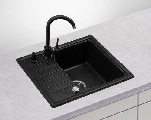 Zlewozmywak Granitowy Jednokomorowy Z Ociekaczem Cupro 1 0 Sink Single Bowl Kitchen Sink Kitchen Sink