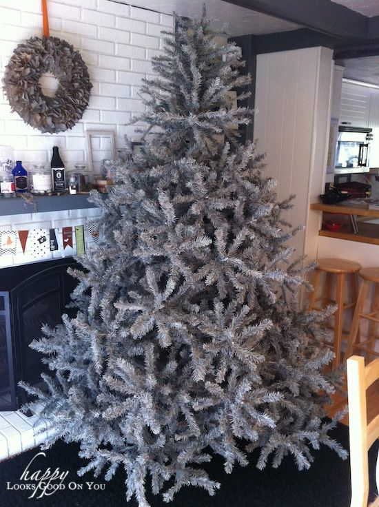 A gray Christmas tree. | Gray gray | Pinterest | Gray