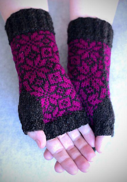 Rockefeller Mitts pattern by Nicole Clark | Pinterest | Moda de ...