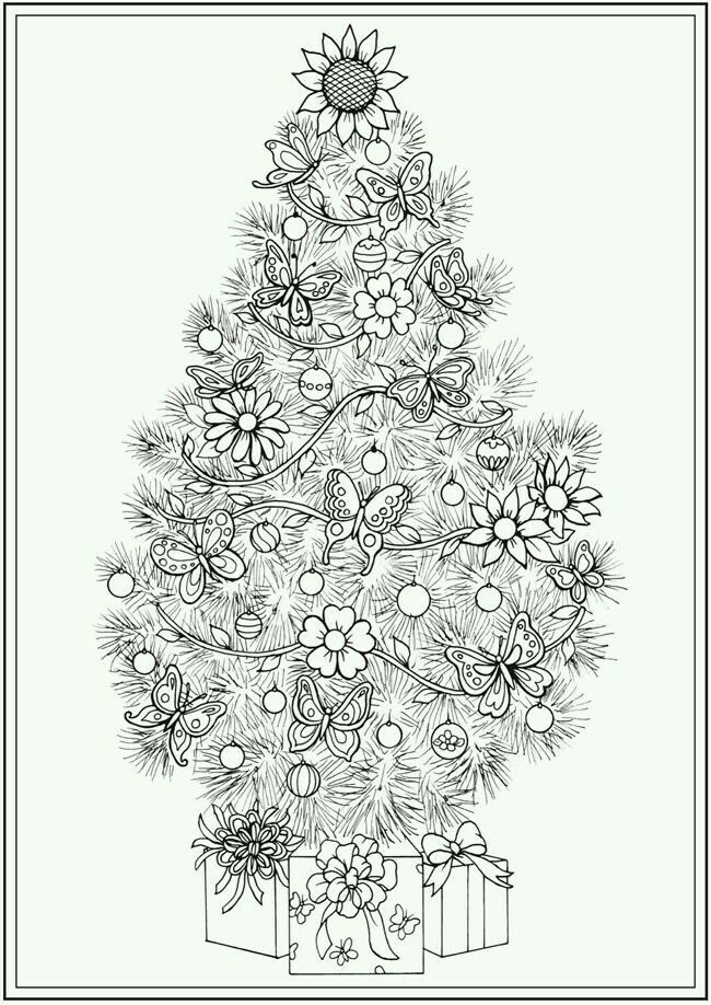 Free Coloring Pages Christmas Tree Trend