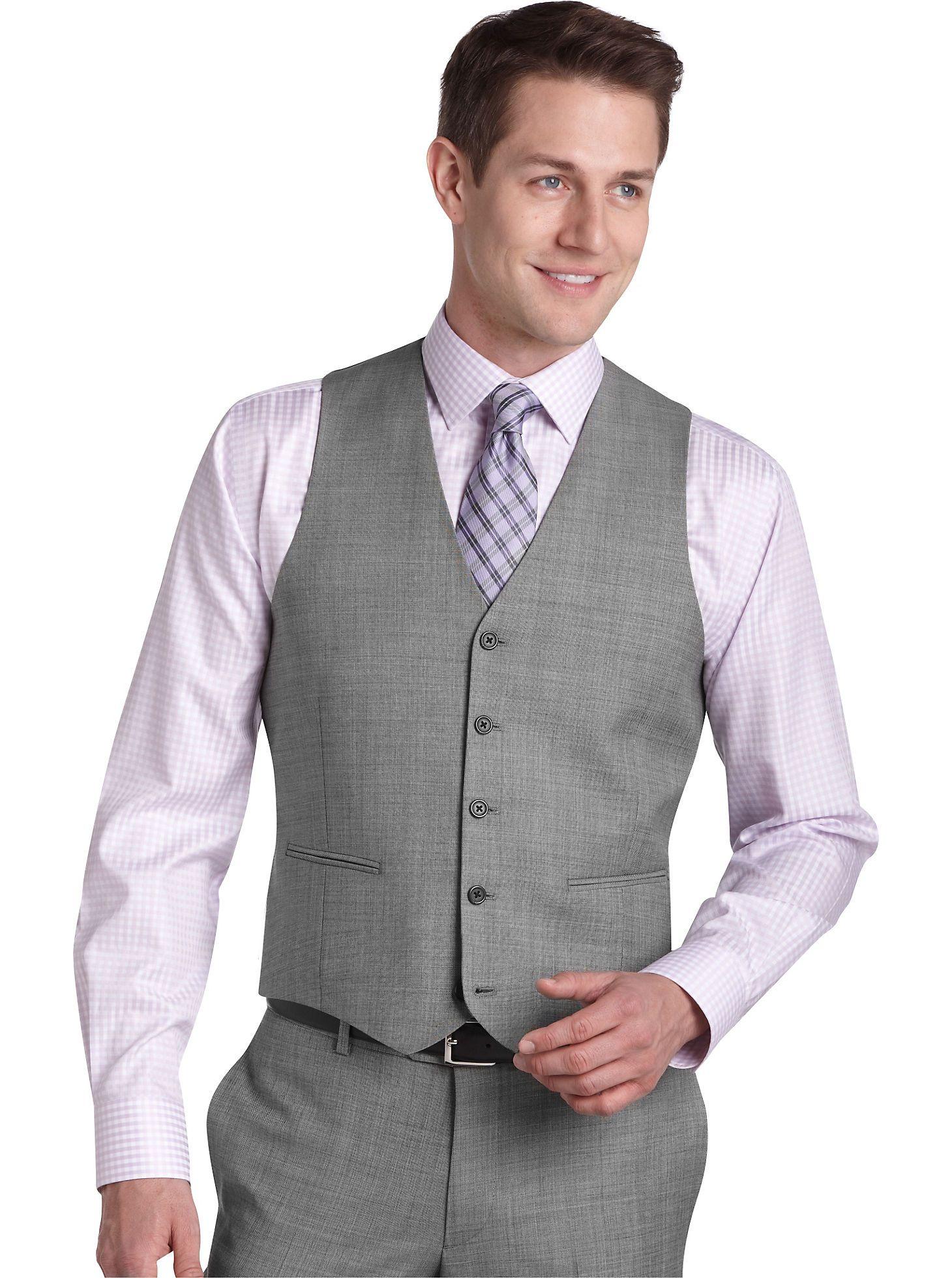Suit Separates - Egara Charcoal Stripe Wool Slim Fit Tailored Suit ...