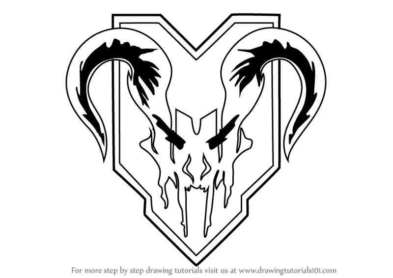 Learn How To Draw Apex Predators Logo From Titanfall 2 Titanfall 2 Step By Step Drawing Tutorials Apex Predator Predator Art Drawings