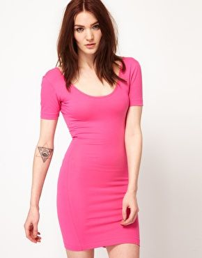 AMERICAN APPAREL Cotton Neck Dress