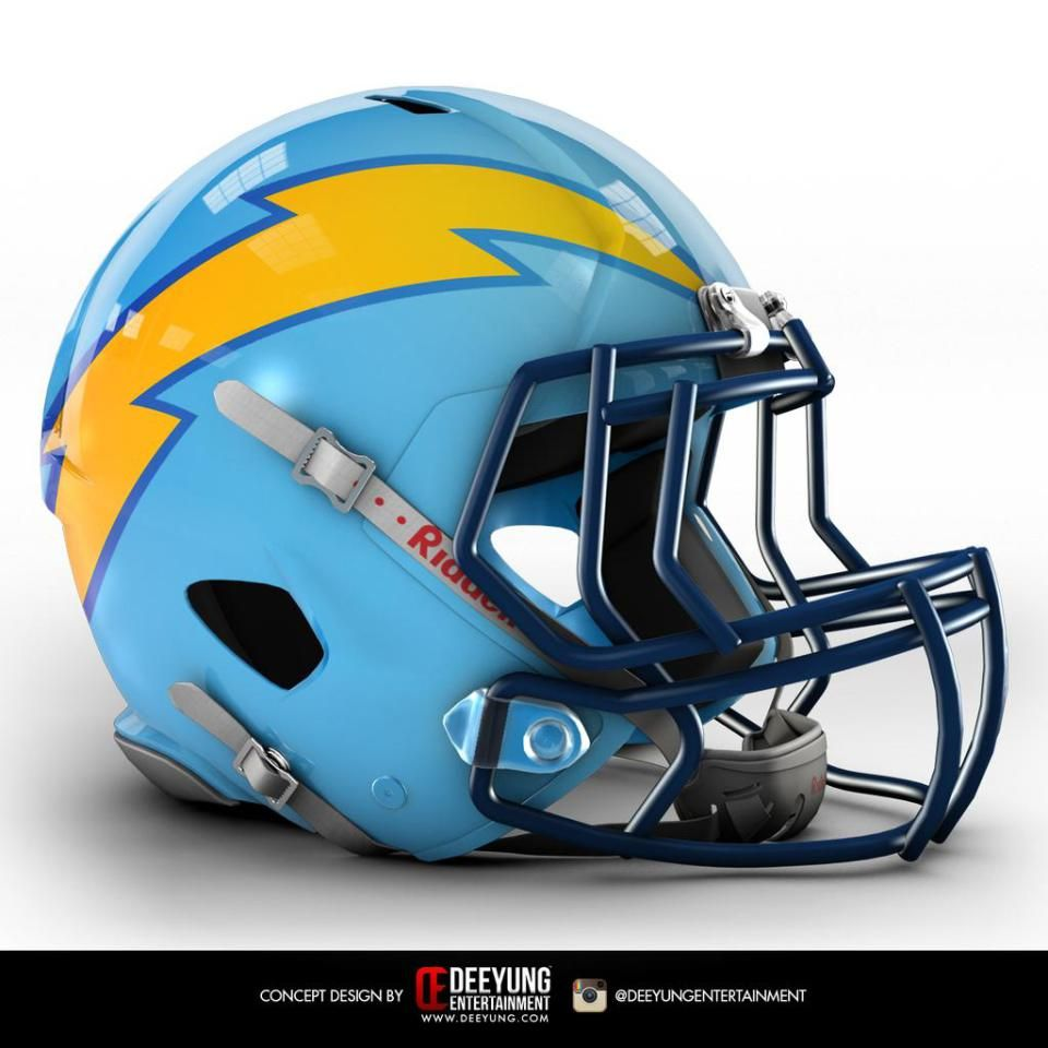 San Diego Chargers Football Scores: All 32 NFL Team Helmets Were Given A More Modern Redesign