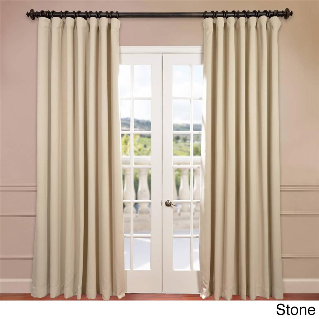 Exclusive Fabrics Extra Wide Thermal Blackout 120 Inch Curtain Panel 100 X 120 Panel Curtains Blackout Curtains Drapes Curtains