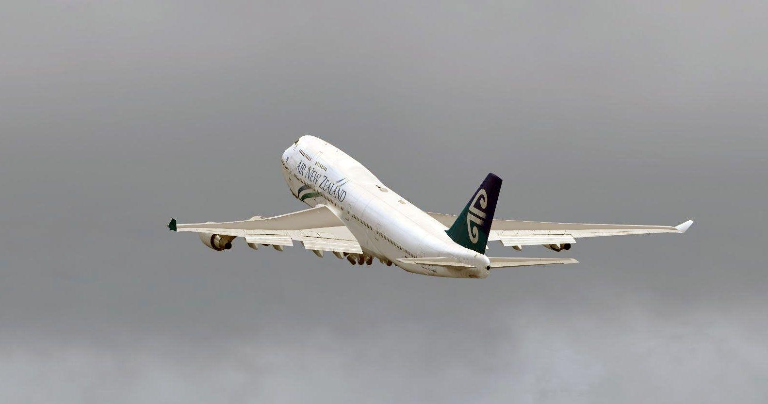 Air New Zealand Boeing 747 taking off in FSX | Delta Flight
