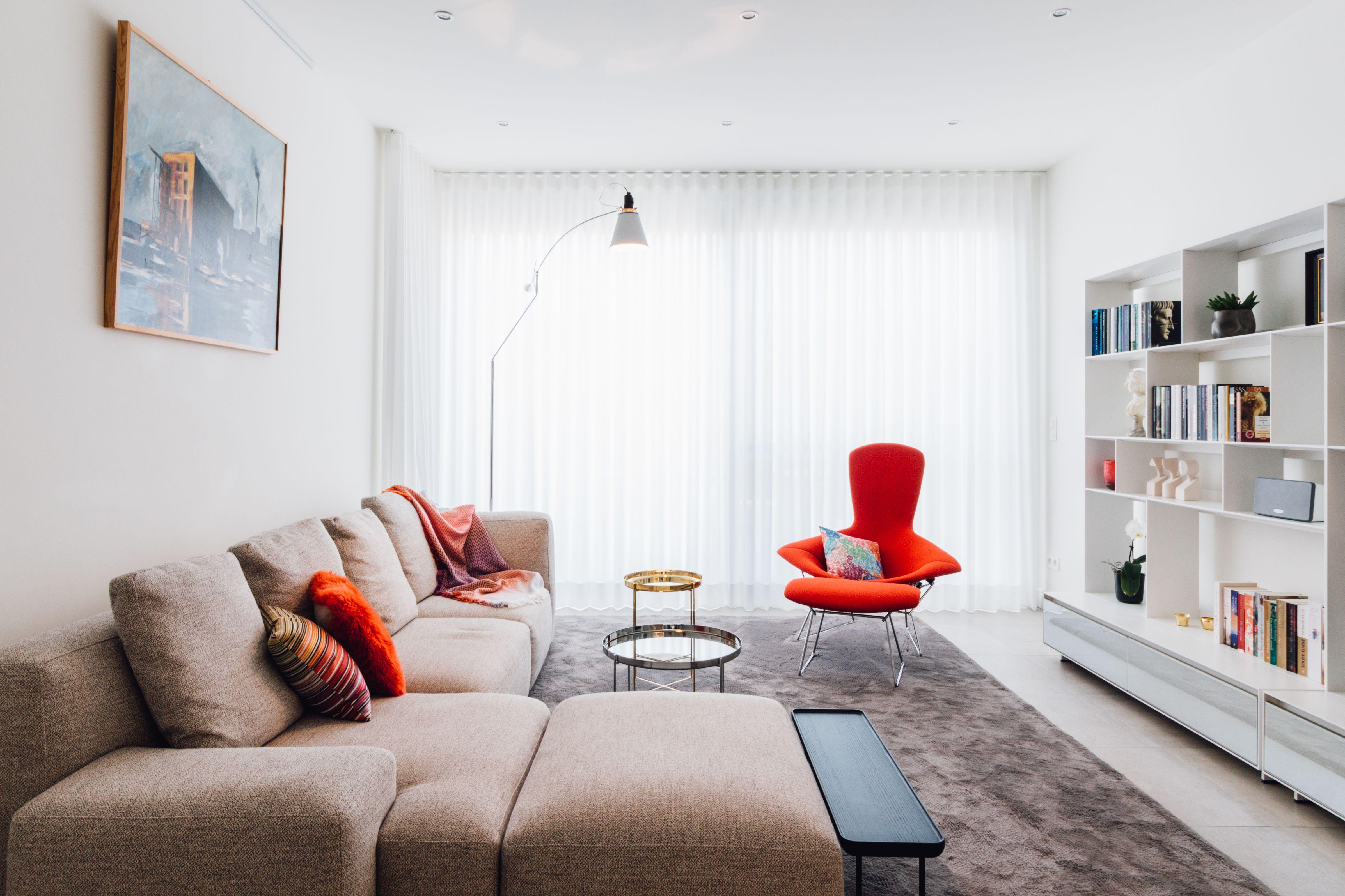Rijwoning Brasschaat living room, interior design, cassina ...