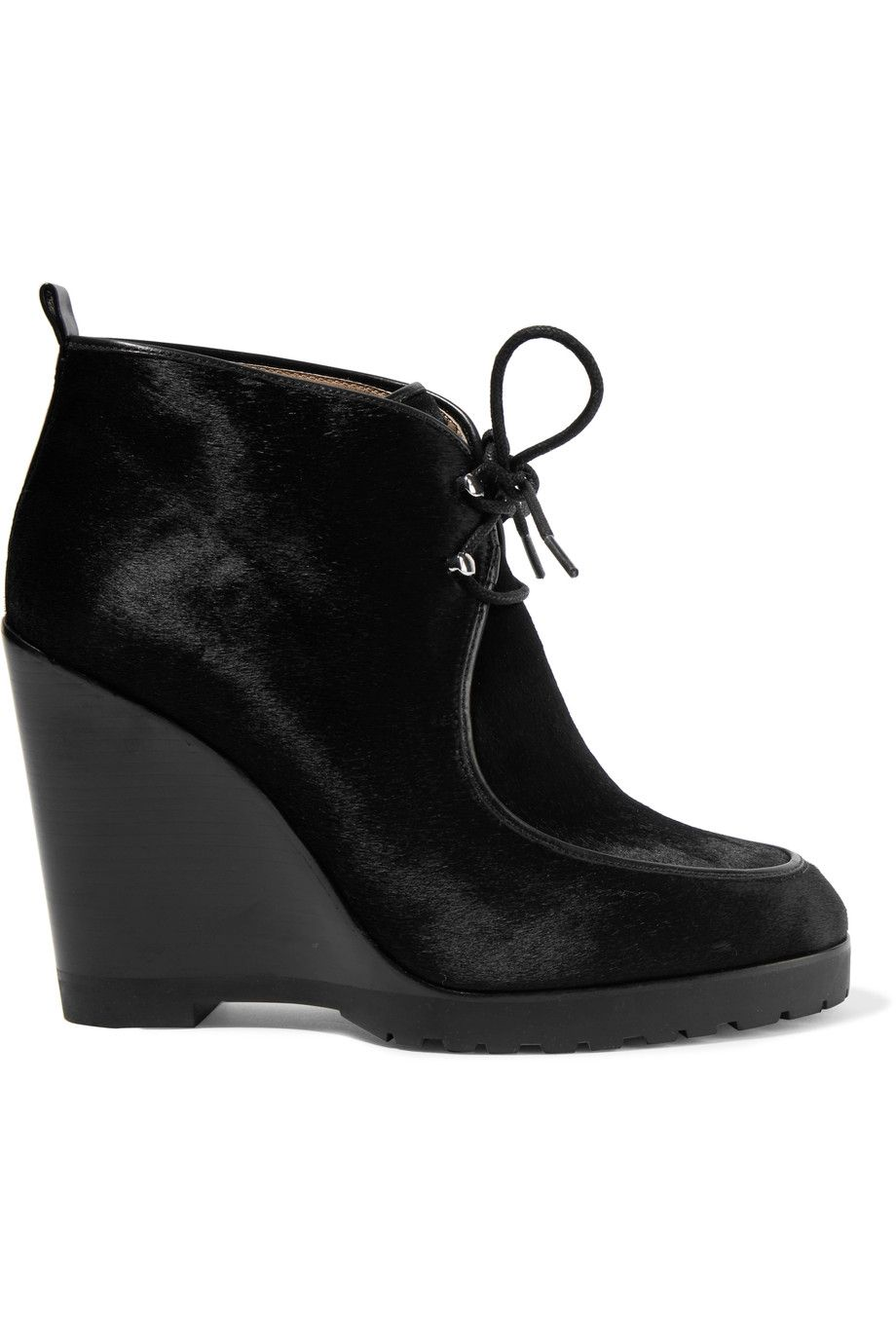 9990bbbbe5c MICHAEL KORS Beth calf hair wedge ankle boots.  michaelkors  shoes  boots