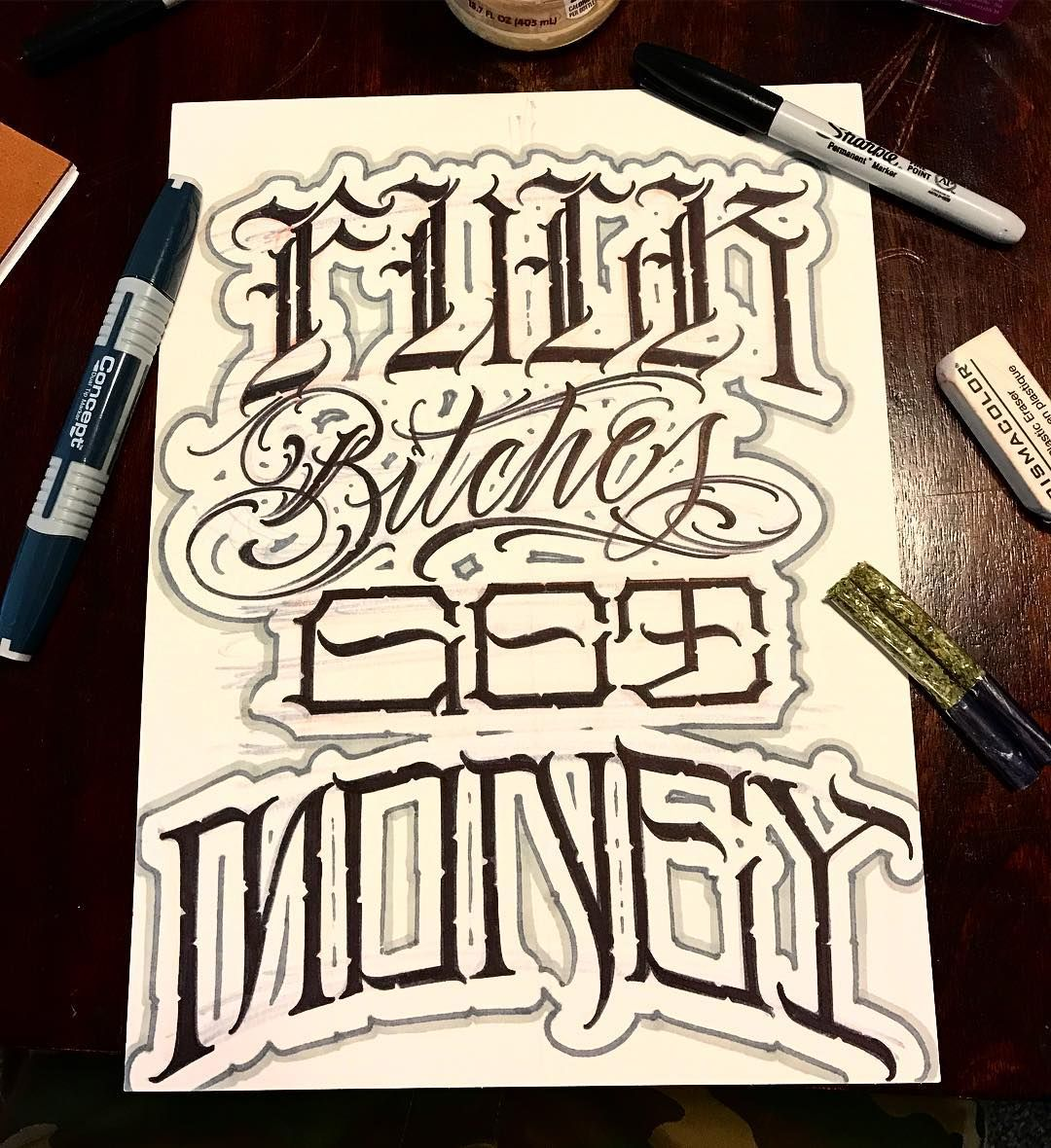 21+ Awesome Gangster calligraphy tattoo fonts ideas
