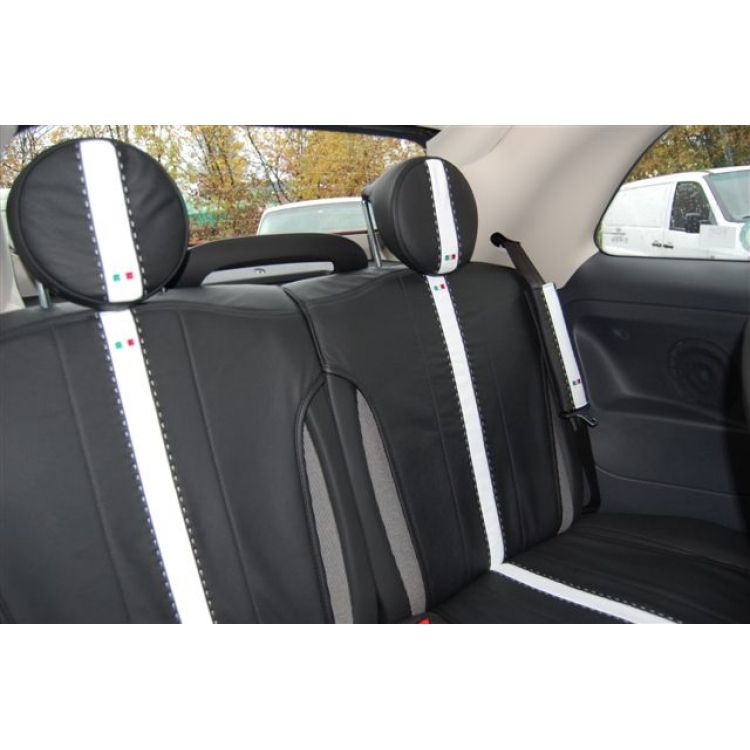 Fiat 500 Seat Covers Set Of Rear Leather Seat Covers And Head
