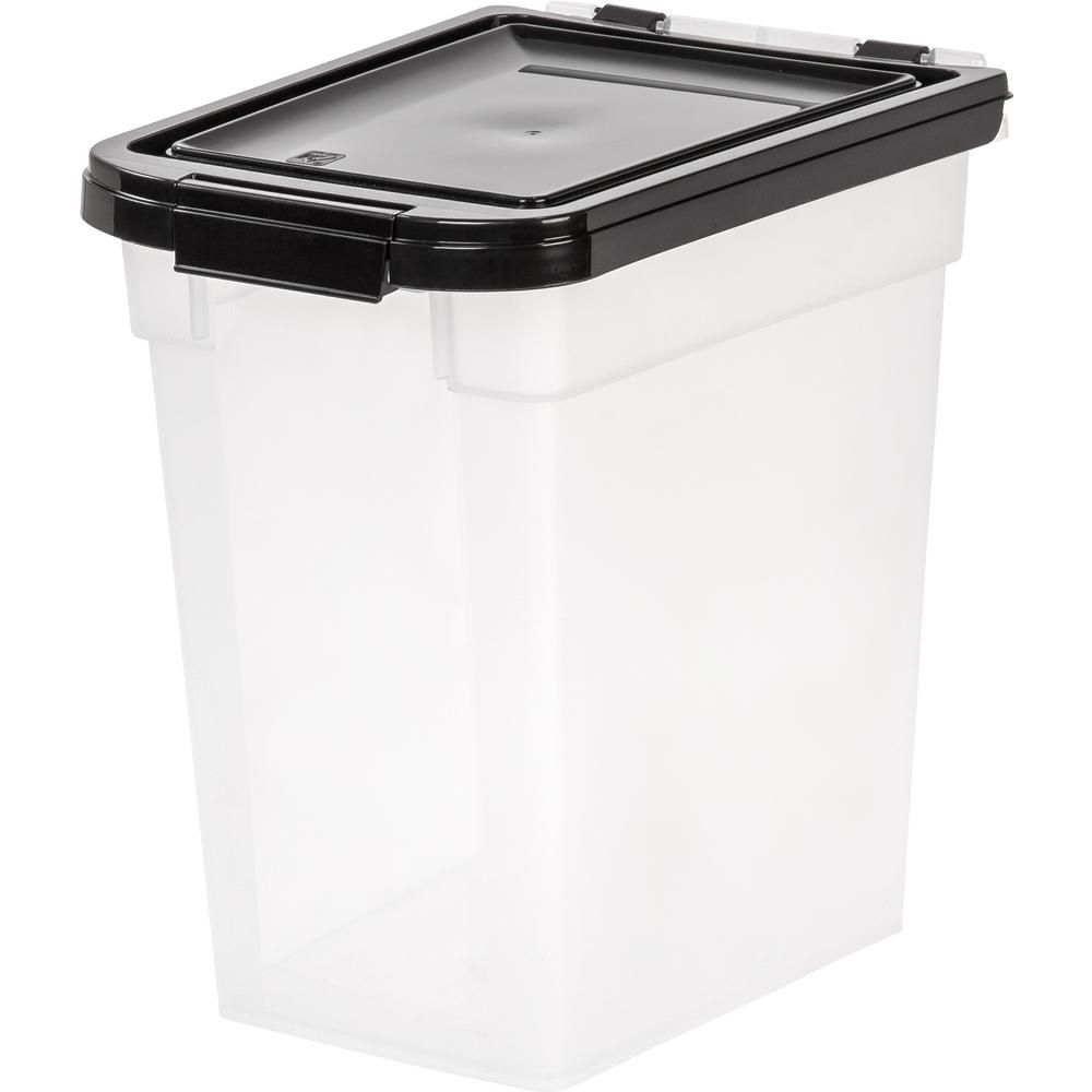 Iris 12 Qt Airtight Pet Food Storage Bin In Clear Pet Food