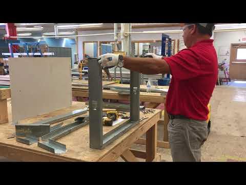 4 Metal Stud Framing Lesson Youtube Metal Stud Framing Metal Outdoor Kitchen Patio