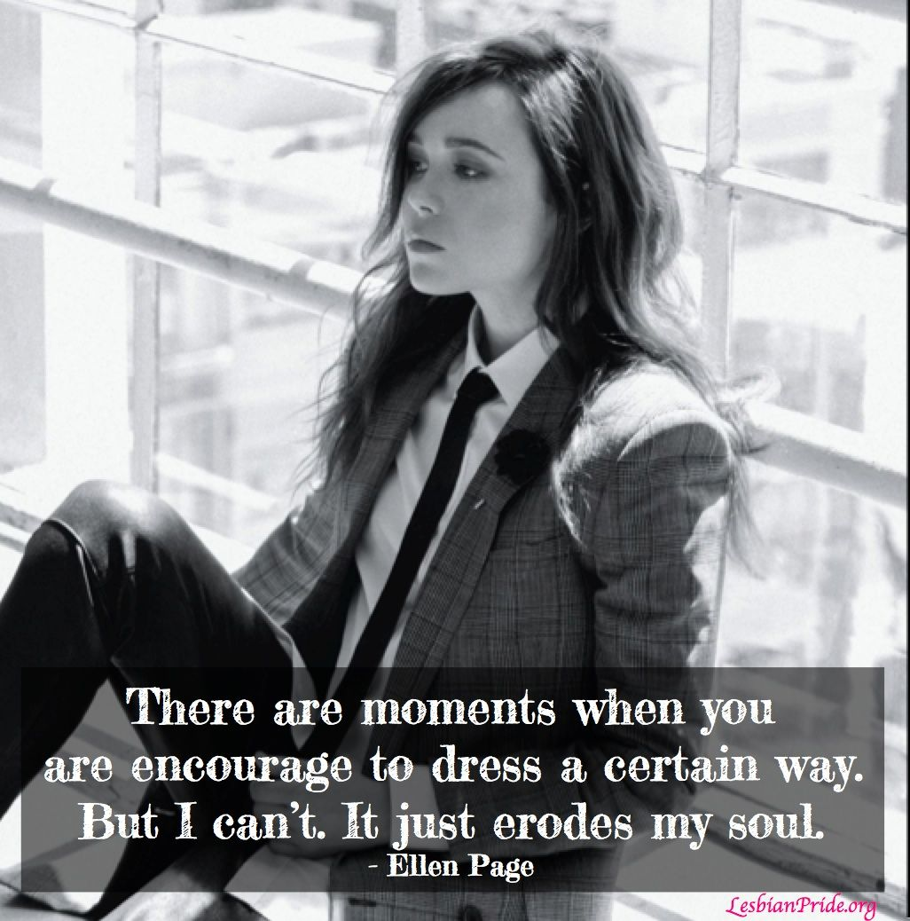 ellen page lgbt Lesbian love quotes http://pin.thelguide.com Pride