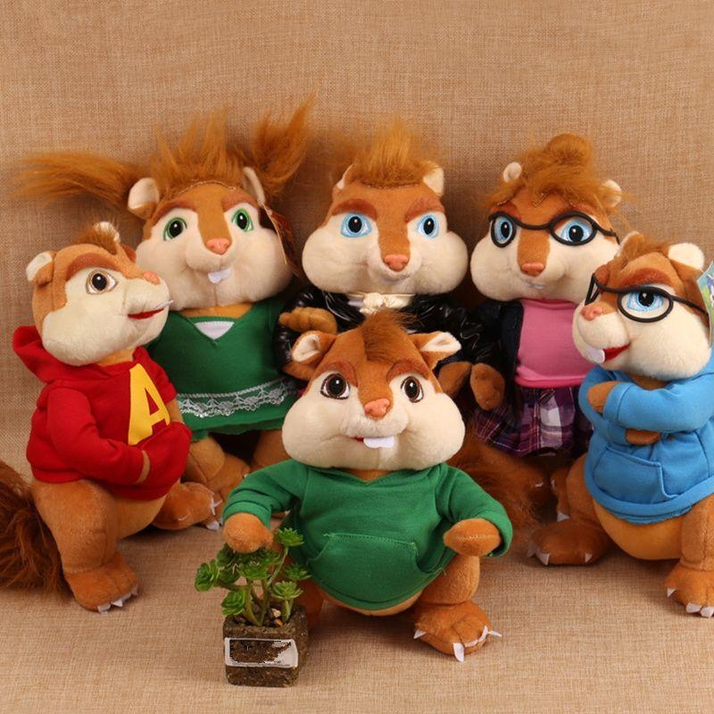 6pcs/lot Cute 25cm 35cm Alvin and the Chipmunks Simon/Theodore ...