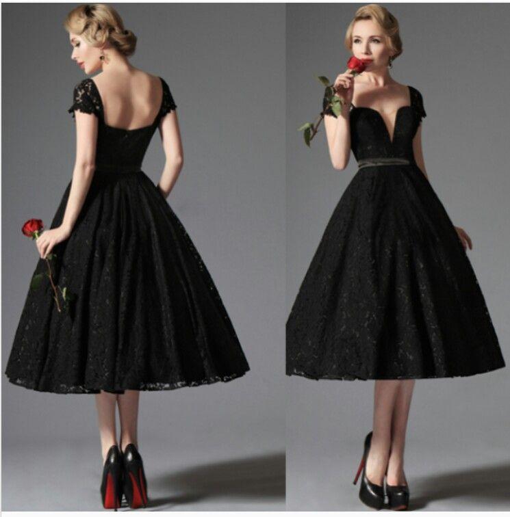 Vestido negro ampon | vestidos damas de honor | Pinterest | Prom ...