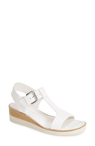 Derek Lam 10 Crosby Forsythe Leather Wedge Sandal Women Brincos