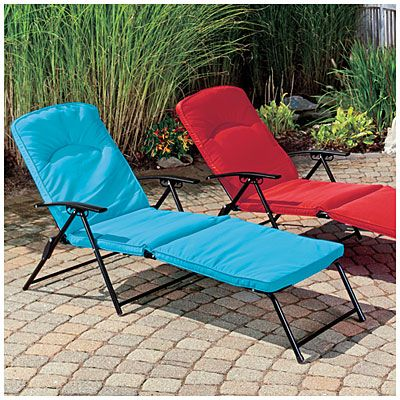 Folding Padded Lounge Chairs At Big Lots 50 Each That S A Great Deal For These And I Checked Them Out Seem Prett Padded Lounge Chair Outdoor Chairs Chair