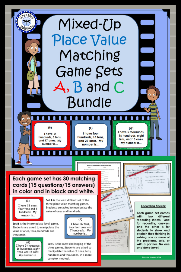 Place Value Matching Game Set Bundle Creative Educational Products