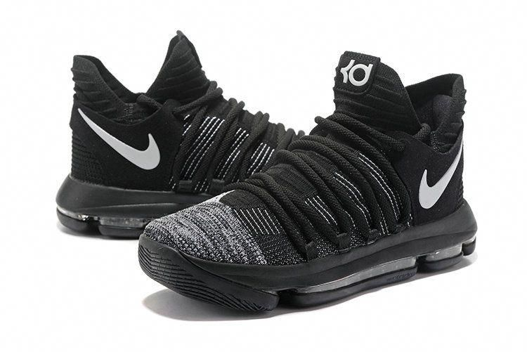 kevin durant black and white shoes