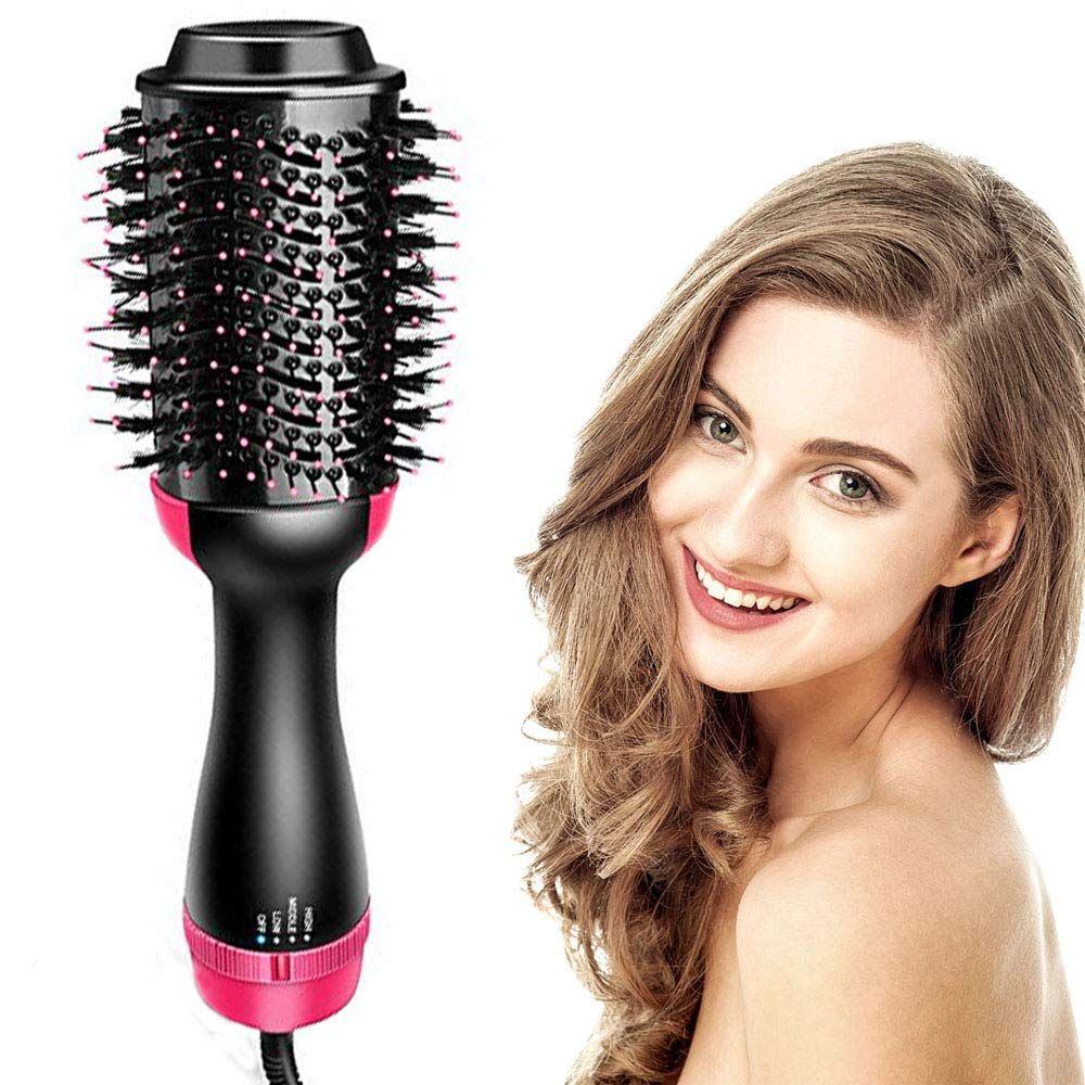 Holiday Promotion 60 Off 2 In 1 Hair Curler And Straightener Emegedk Hair Straightener And Curler Hair Dryer Brush Hair Dryer