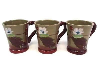 Set of 3 Coffee Cups Tracy Porter The Henna Collection 3.5\