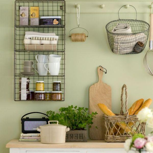 küche in hellen farben - regal draht | Kitchen @ Dining | Pinterest ...