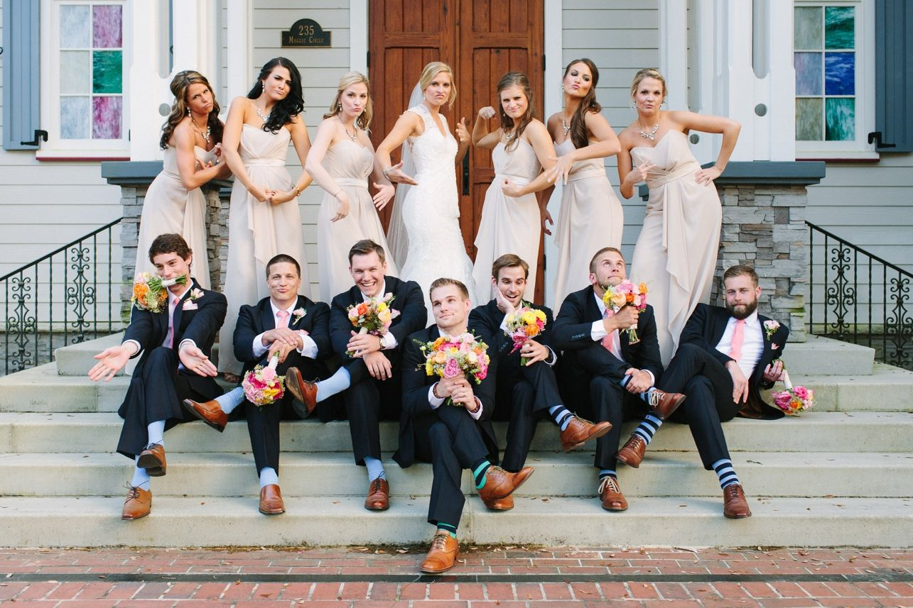 Funny Bridal Party Photo By Leigh And Becca Wedding Photography Bridal Party Wedding Picture Poses Creative Wedding Photo