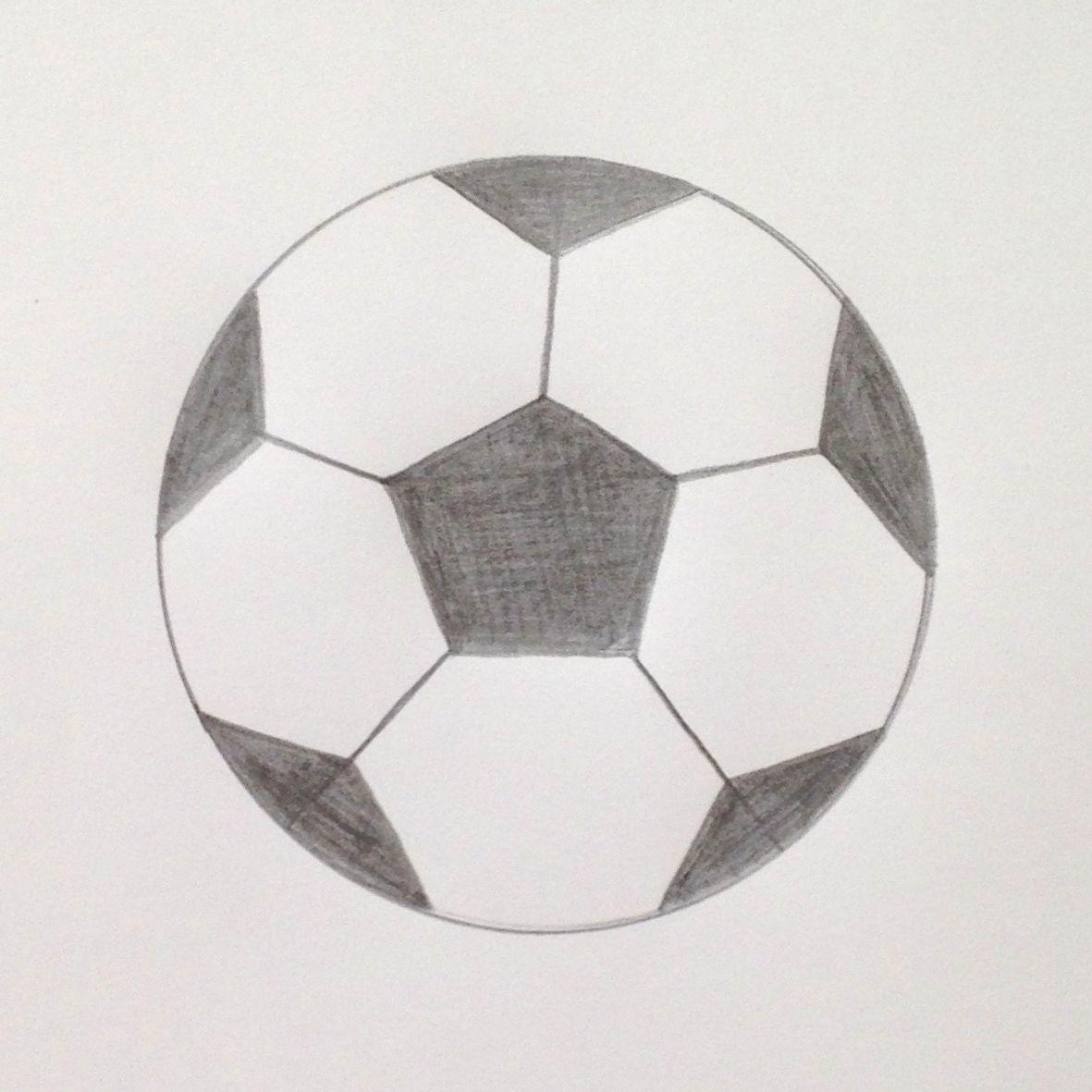 Art With Math Draw A Simple Soccer Ball Soccer Ball Ball Drawing Soccer