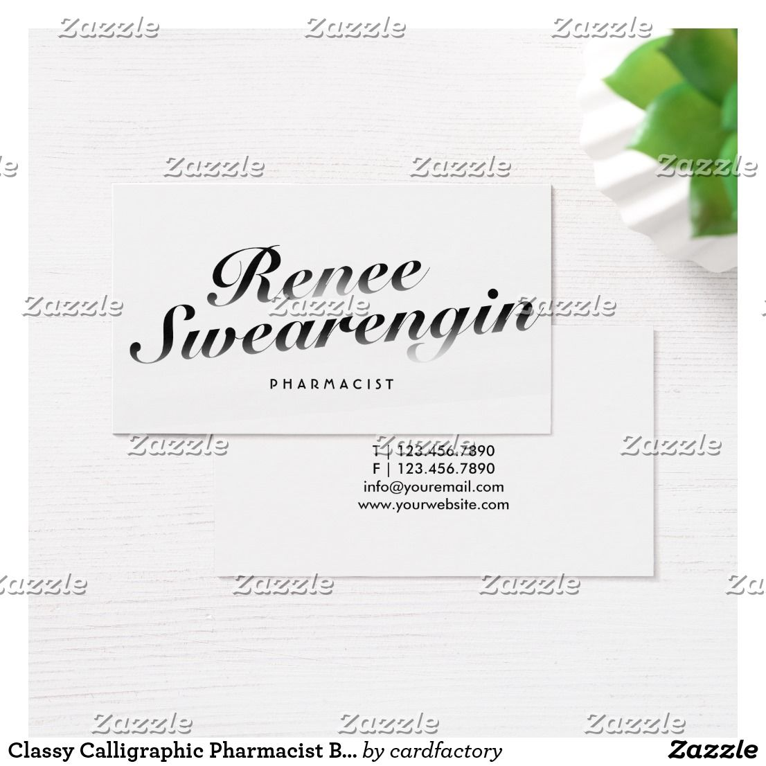 Classy Calligraphic Pharmacist Business Card | job | Pinterest ...