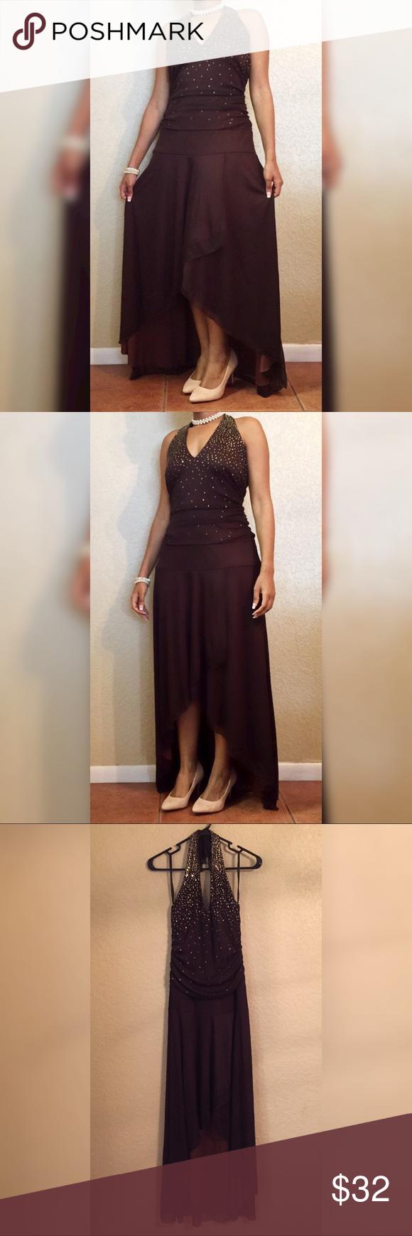 Cute promformal dark brown dress