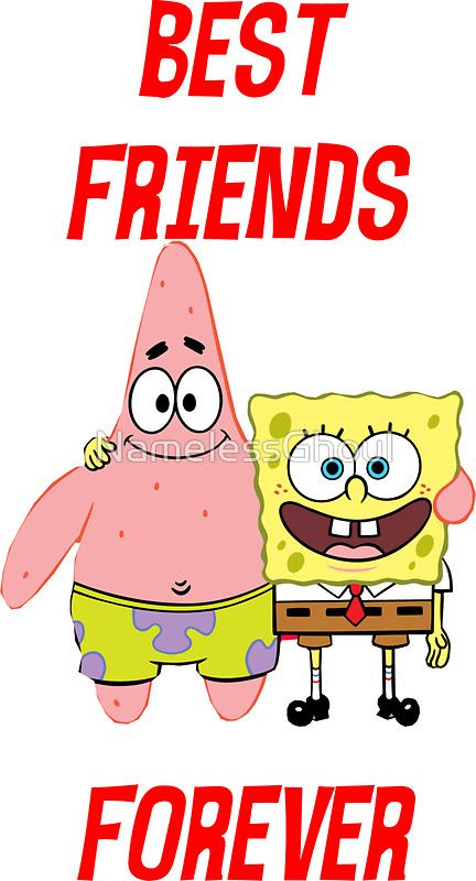 Patrick Spongebob Best Friends Forever Sticker By Namelessghoul In 2021 Spongebob Drawings Spongebob Best Friend Spongebob Painting