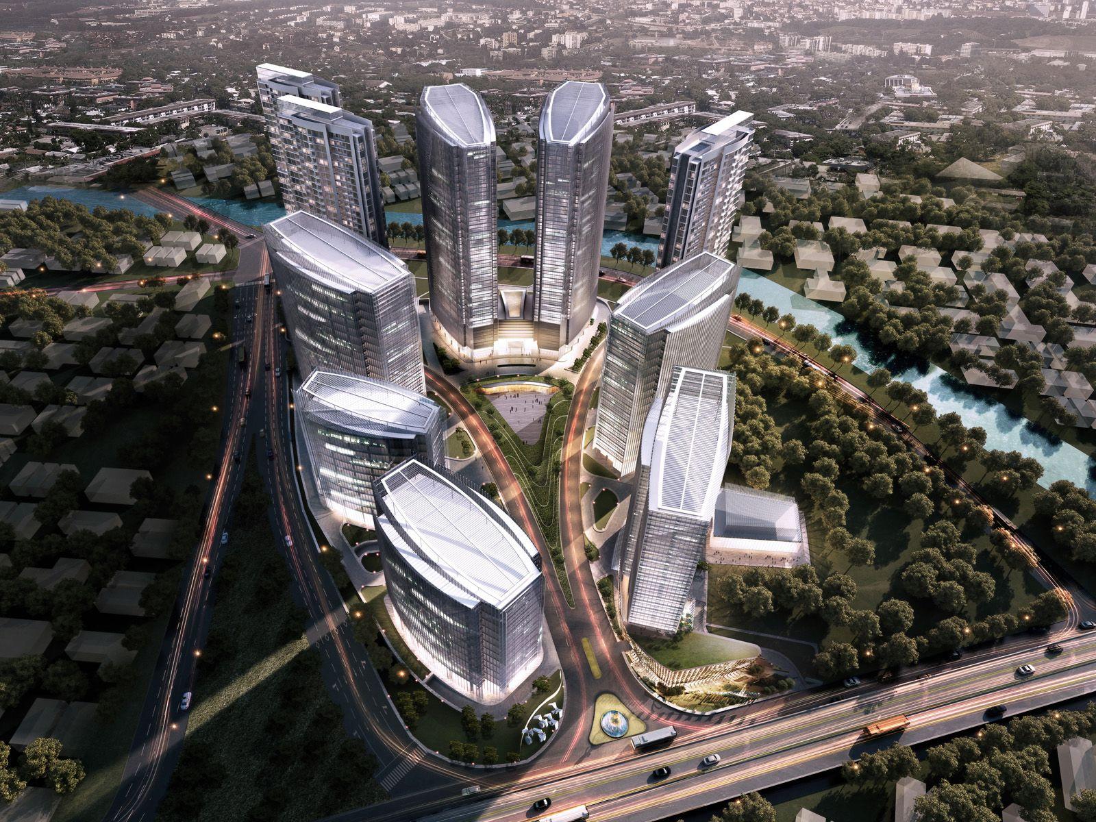 ciputra international aedas architecture mixed use jakarta