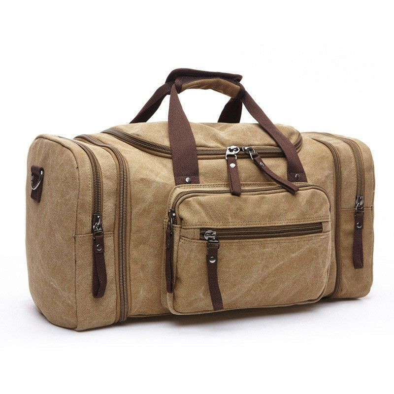 bd3cf9943de2 Vintage Canvas Men Travel Bags  Weekend Outdoor Sport Bag  Luggage Duffle  Bag  Large Capacity Gym Bag