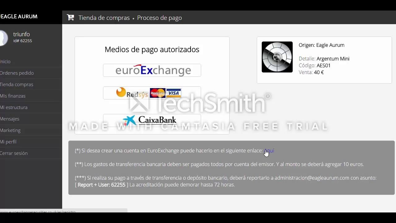 Eagle Aurum Company Como Realizar Tu Pago con Visa o Master Card