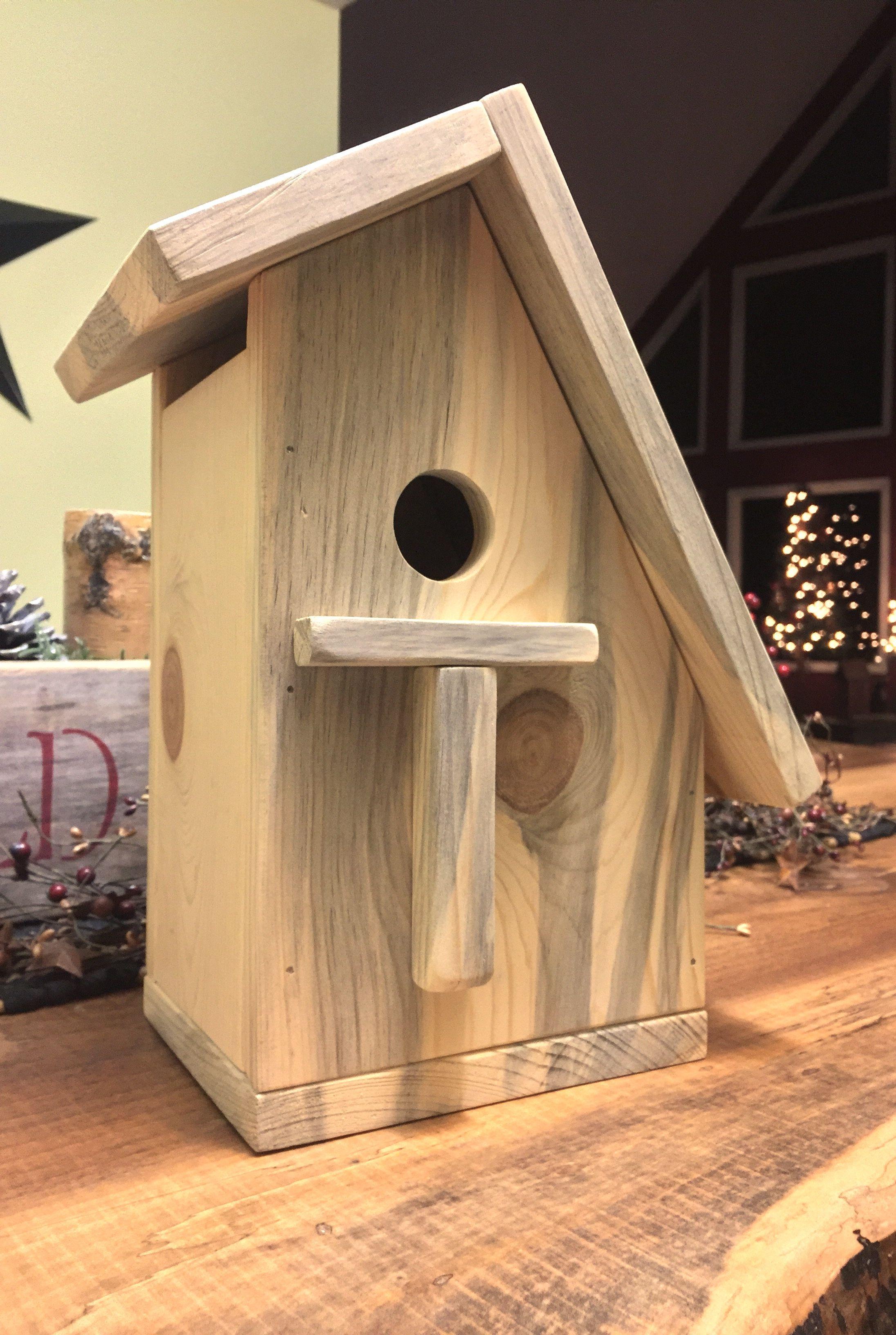 Simple Pine Birdhouse Bird House Bird Houses Decorative Bird