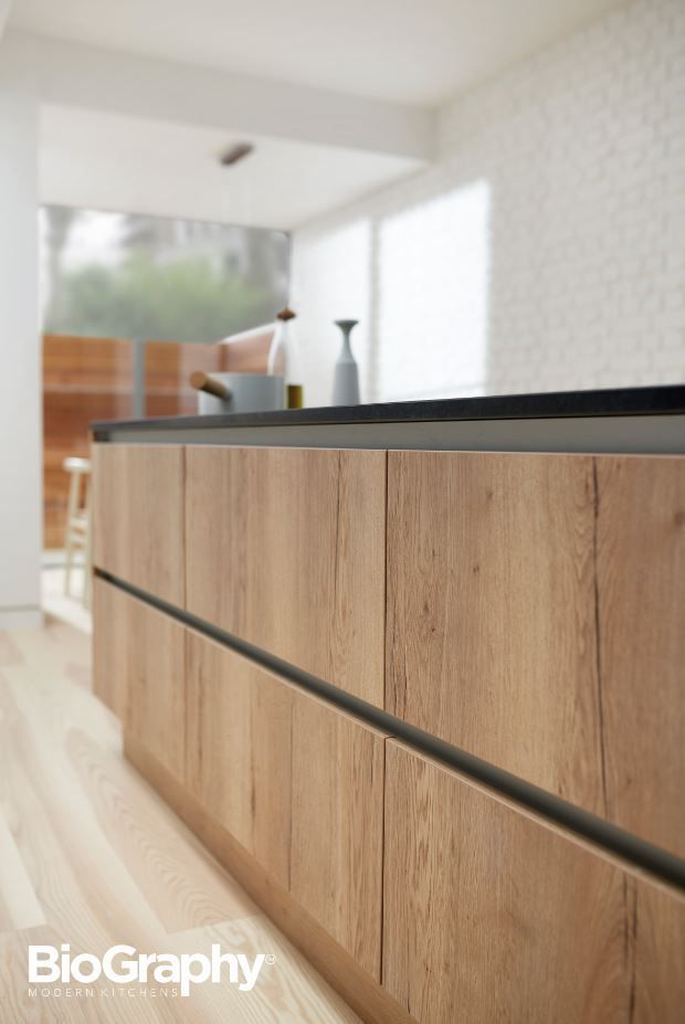 South Eastern Michigan S Premiere Kitchen: Reclaimed Oak On Handleless Rail Profile Doors From