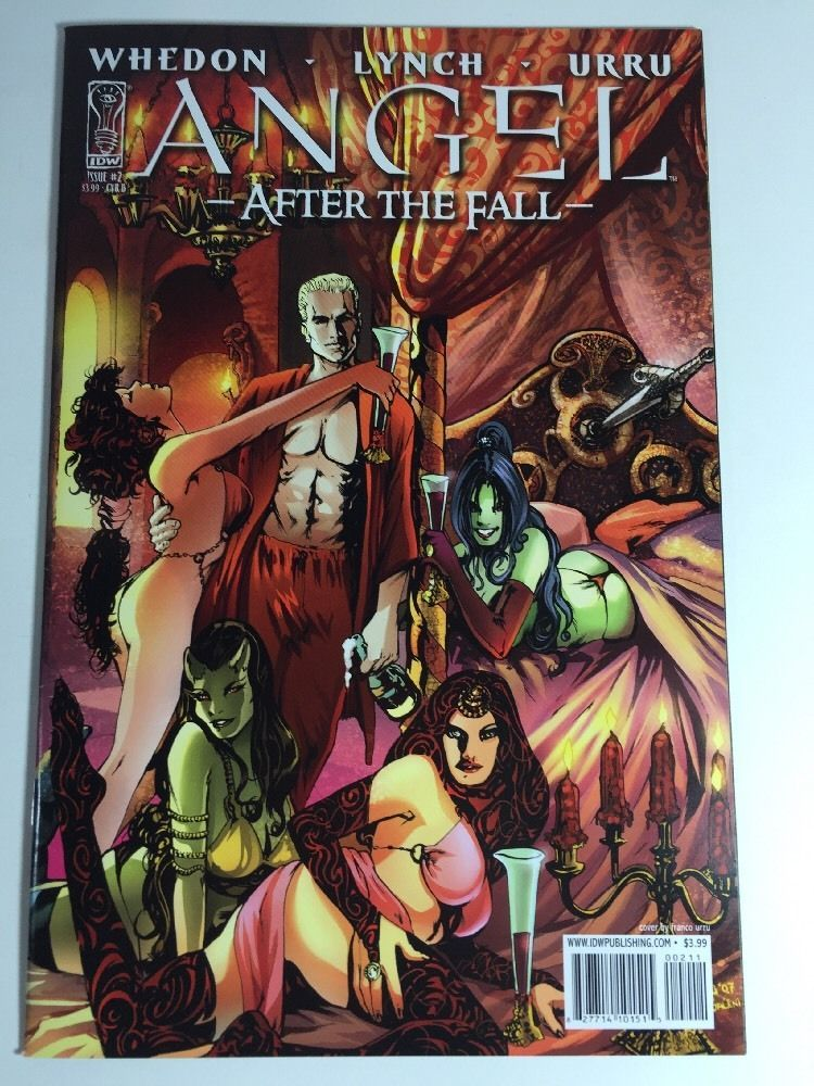 Angel After The Fall IDW 2007 #2 B Comic Book VF-NM Whedon Lynch Urru