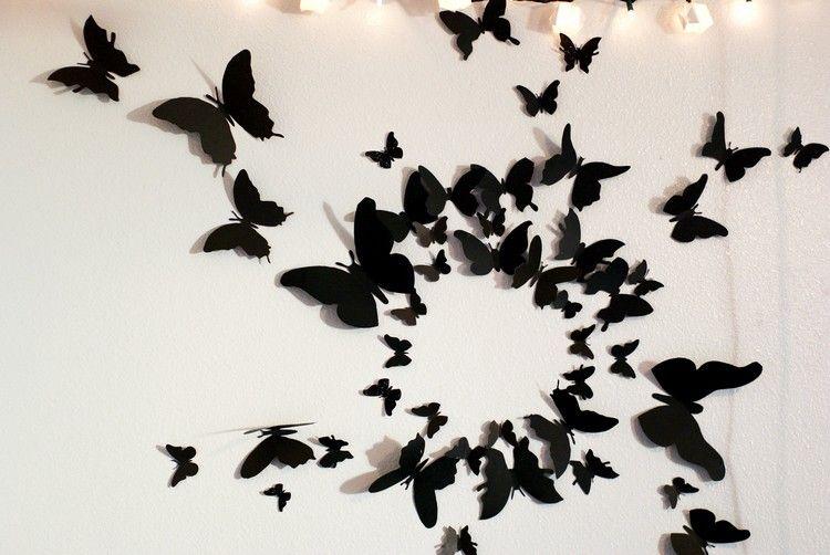 Gentil Wanddeko Mit Schwarzen Schmetterlingen Wie Von Gossip Girl