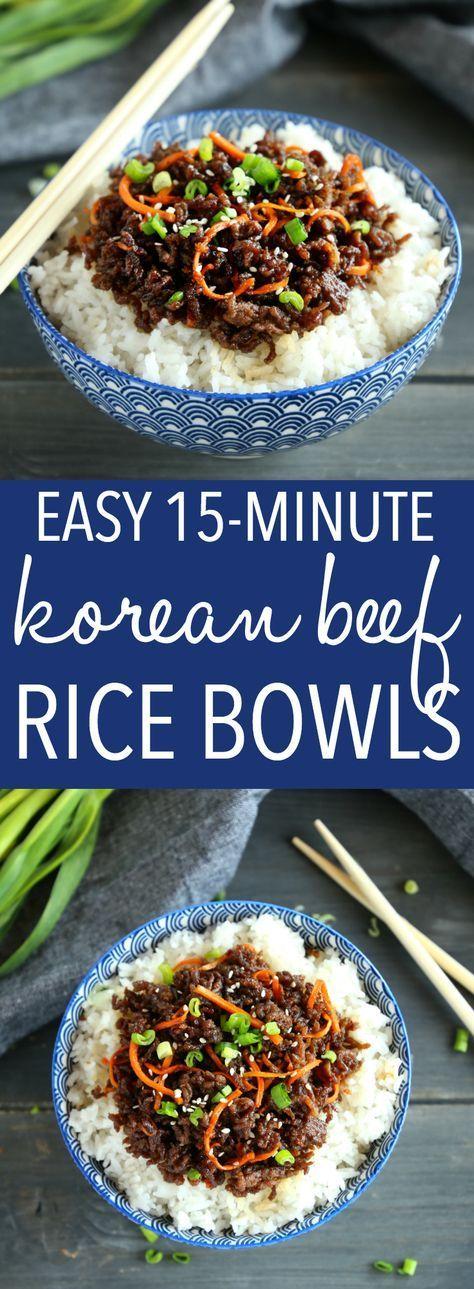 Easy Korean Beef Rice Bowls #healthyweeknightmeals