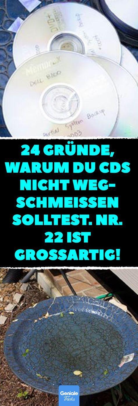 24 Gründe, warum du CDs nicht wegschmeißen solltest. Nr. 22 ist großartig! CDs nicht wegwerfen: 24 Mal Disco-Charm aus alten Tonträgern. #DIY #CD #Upcycling #Deko #Inspiration #Kunstwerk #recycledcd