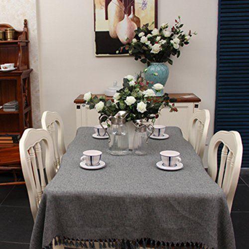 Monochrome Linen Tablecloth Table Cloth Cafe Tablecloths Cover